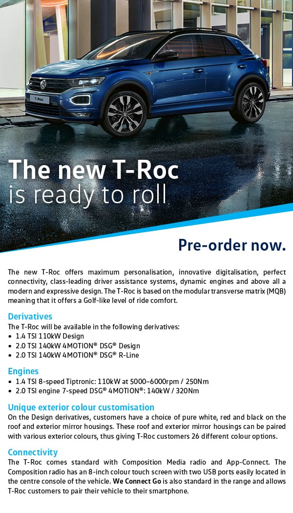 You can Pre-Order your T-Roc today