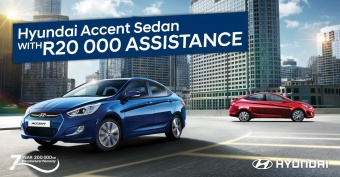 Get R20 000 assistance on Accent