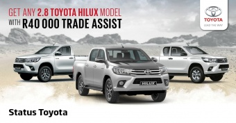 Get any 2.8 Toyota Hilux model with R40 000 trade assist