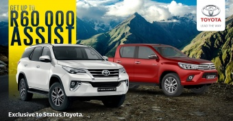 Get up to R60 000 trade assist on select Hilux and Fortuner models