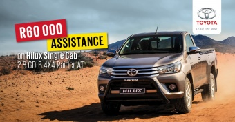 Get any 2.8 Toyota Hilux model with R60 000 trade assist