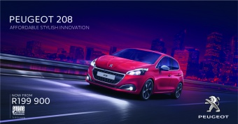 Get the Peugeot 208 for only R199 900
