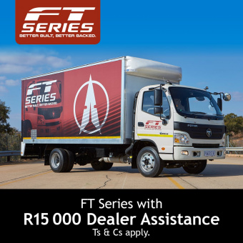 Get R15,000 dealer assistance on our FT Series of trucks
