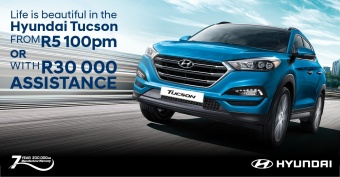 Get the Hyundai Tucson from R5,100pm or with R30,000 assistance