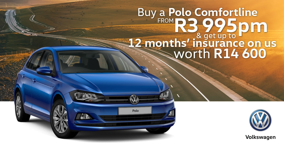 Get this Polo, pay no deposit and get 12 months insurance on us