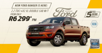 Drive the new Ford Ranger from only R6,299pm