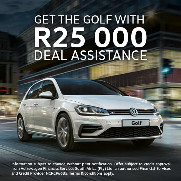 Get R25,000 assistance on Golf