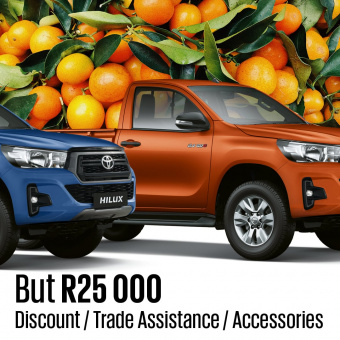 Get R25,000 trade assistance on Hilux Single Cab