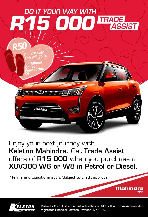 Get the bold and dynamic XUV300 from R3199pm 1000w