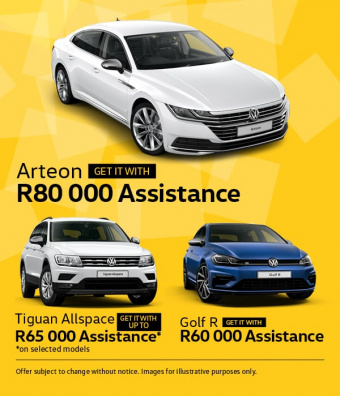 Get these great assistance deals on Golf R, Tiguan Allspace and Arteon