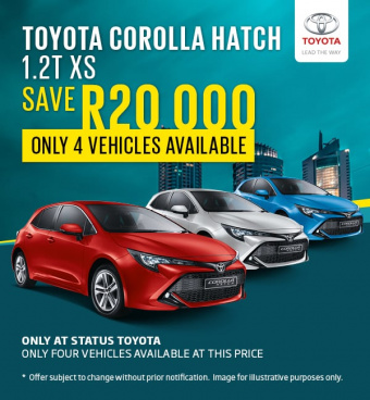 Save R20,000 on Toyota Corolla Hatch - cheapest deal in South Africa