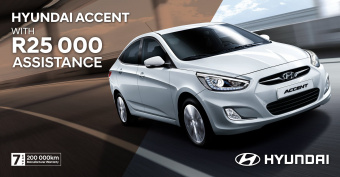 Get R25 000 assistance on the Accent 1.6 Motion Manual