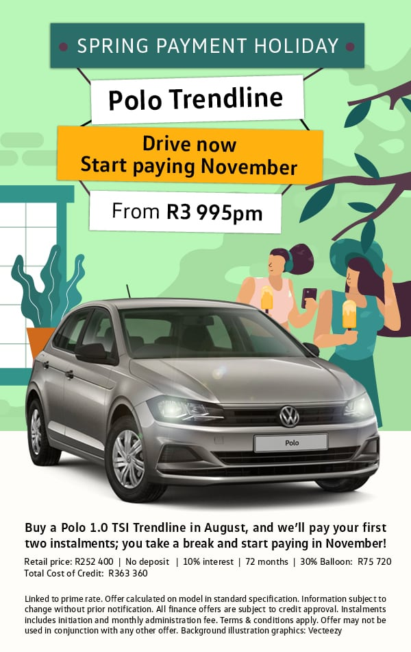 Enjoy a Spring Payment Holiday on us, Polo Trendline from R3,995pm
