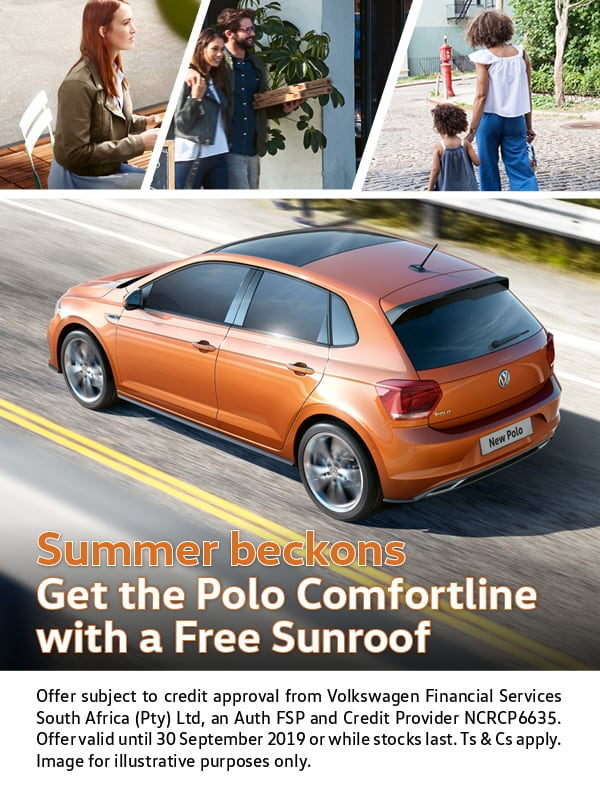 Summer special - Get a free sunroof on the Polo Comfortline