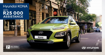 Get the exciting Kona with R25,000 trade assistance