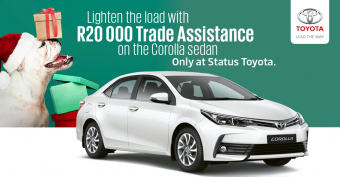 Lighten the load with R20 000 trade assistance on Corolla Sedan
