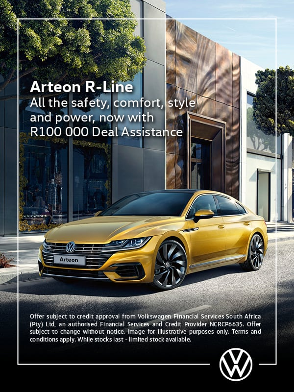Get the Arteon R-Line now with R100 000 deal assistance