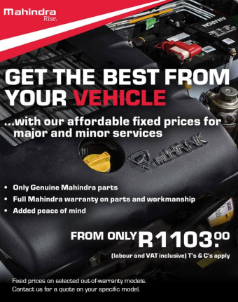 Get the best our of your Mahindra with this year-end service special